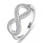 J1 - Sterling Silver Infinity Ring