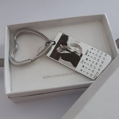 JO-CAS101764 - Personalized Keyring, Stainless Steel