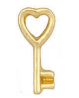 FLC207 - Gold Tone Key Floating Charm
