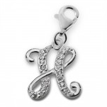 Silver initial letter charm
