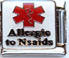 E-133 - Medical Alert Allergic to NSAIDS Italian Charm Link, Stainless Steel