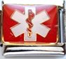 E-130 - Medical Alert Symbol Italian Charm, Stainless Steel