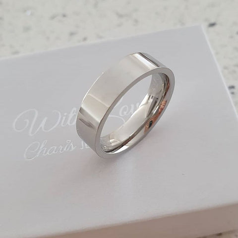 A84-C2528 - Men's Stainless Steel Band Ring