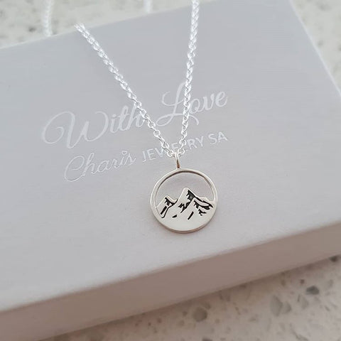 A67-C37905 - 925 Sterling Silver Mountain Necklace