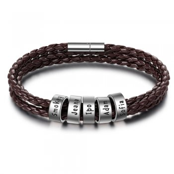 CBA102694 - Men's Personalized Bracelet Wrist Strap, Sterling Silver