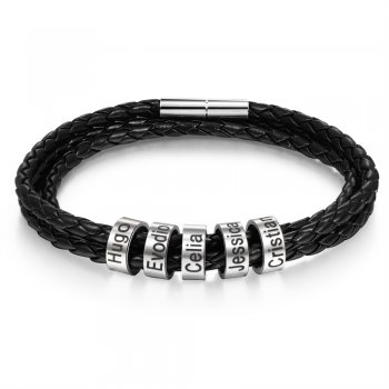CBA102741 - Men's Personalized Bracelet Wrist Strap, Stainless Steel