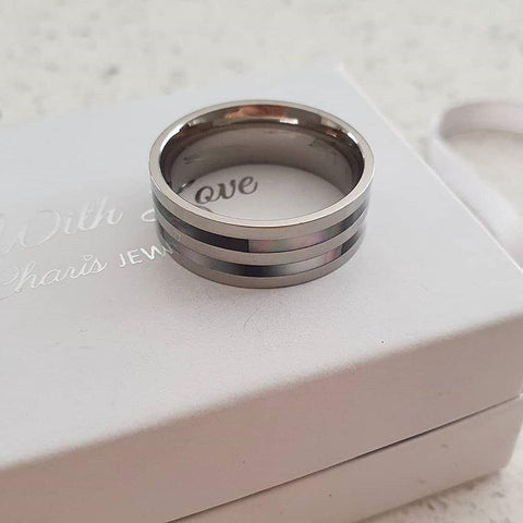 A23-C38558 - Men's Titanium Stainless Steel Band Ring
