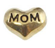 FLC21 - Mom Heart Floating Locket Charm (Silver tone or Gold tone)