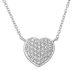 C781-C35471 - 925 Sterling Silver CZ Heart Necklace