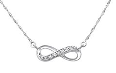 C740-C27111 - 925 Sterling Silver CZ Infinity Necklace
