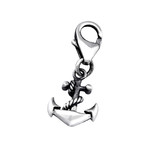 C787-C32110 - 925 Sterling Silver Anchor Dangle Charm for Charm Bracelet