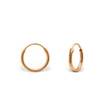 C721-C31262 - Rose Gold over Sterling Silver Round Hoop Earrings 10mm