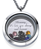 N1013 - Mother's Personalized Family Tree Names and Birthstones Floating Locket