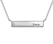 C783 - 925 Sterling Silver Love Bar Necklace