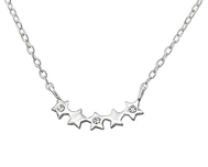 C745-C35869 - 925 Sterling Silver CZ Star Necklace