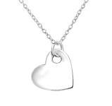 C583-C36351 - 925 Sterling Silver Heart Necklace