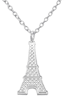 C726-C34185 - 925 Sterling Silver Eiffel Tower Necklace