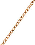 C790-C23567 - Rose Gold Plated Cable Chain 45cm, 1mm thick