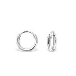 C592-C9416 - 925 Sterling Silver Small Baby 8mm Hoop Earrings