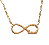 Rose Gold Love Infinity Necklace