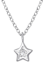 C723-C36129 - 925 Sterling Silver CZ Crystal Star Necklace