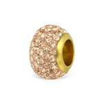 C156-C33046 - Gold Plated CZ Sparkle European Charm Bead