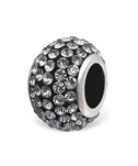 C732-C3711 - 925 Sterling Silver Grey European Charm Bead