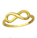 C590-36406 - Gold Plated over Sterling Silver Infinity Ring