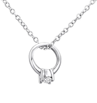 C738-C27112 - 925 Sterling Silver Ring Necklace