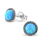 Sterling Silver Opal Azure Earrings online store in South Africa
