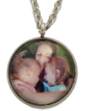 SSPCU-01 - Personalized Photo Necklace, Stainless Steel