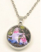 MD18 - Personalized Photo Snap Charm Necklace