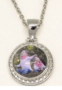 MD17 - Personalized Photo Snap Charm Necklace