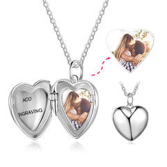 Personalized photo locket necklace