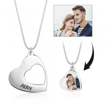 CNE105147 - Personalized Photo Necklace  Set, Stainless Steel