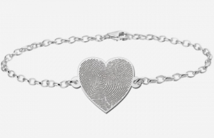 CAS101892 - 925 Sterling Silver Personalized Fingerprint Bracelet