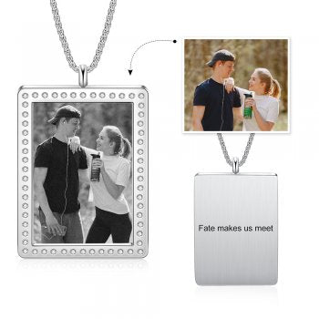 CNE105227/505 - Personalized Photo Necklace, Stainless Steel