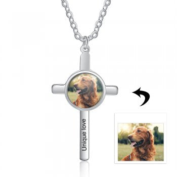 CNE105255 - Personalized Photo Necklace with engraving, Stainless Steel