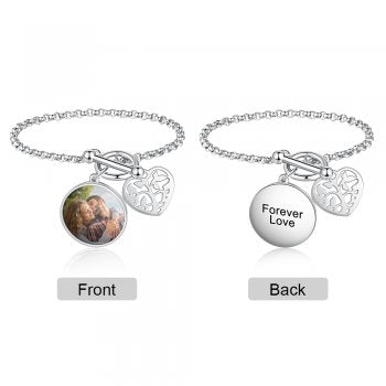 CBA103149 - Personalized Photo Bracelet,Stainless Steel