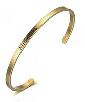 CBA102084 - Personalized Bangle, Gold Stainless Steel 3mm x 17cm