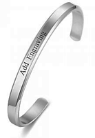 CBA102302 - Personalized Bangle, Stainless Steel 6mm x 15.5cm