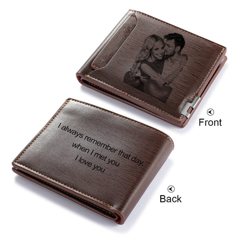 CWA100338 - Personalized Photo Wallet, PU Leather, 11X9cm, 2cm thick