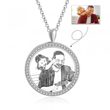 CNE104381 - Personalized Photo Necklace, Stainless Steel