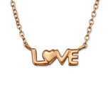 C421-C32946 - Rose Gold Love Necklace