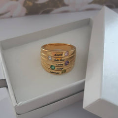 Personalized mothers ring with birthstones online shop South Africa