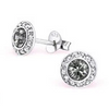 Sterling silver crystal ear stud earrings