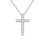 C209-C19473 - 925 Sterling Silver Cross Necklace