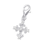 C262-C9846 - 925 Sterling Silver Cross Dangle Charm