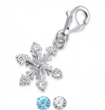 C162-C3337 - 925 Sterling Silver Snowflake Dangle Charm