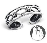 B67-C15856 - 925 Sterling Silver Toe Ring, adjustable